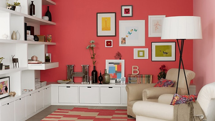 17 ideas for painting and decorating the living room with white furniture