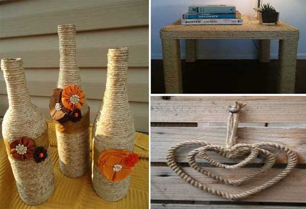 20 simple and original DIY ideas for decorating with rope.