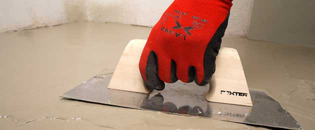 How to level the floor using leveling paste.