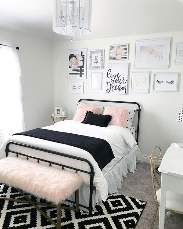 Decoration of bedrooms and youth rooms for girls