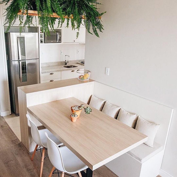 Small modern kitchen for eating