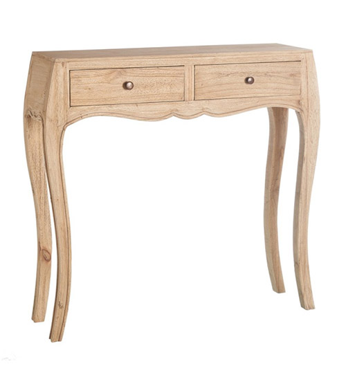 Narrow console in rustic Provencal style