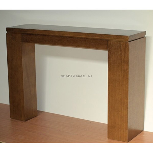 Narrow wooden console