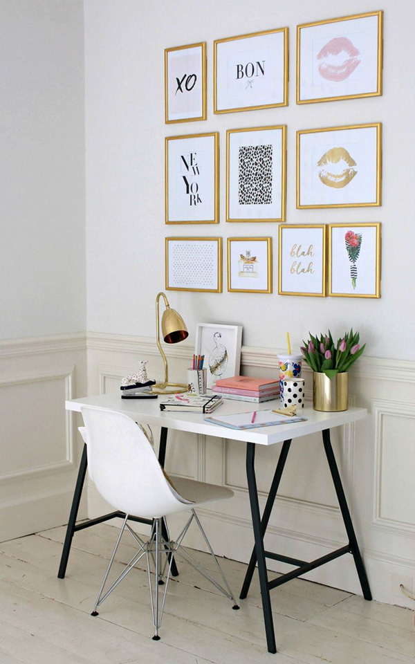 Colors that match gold and gold: white