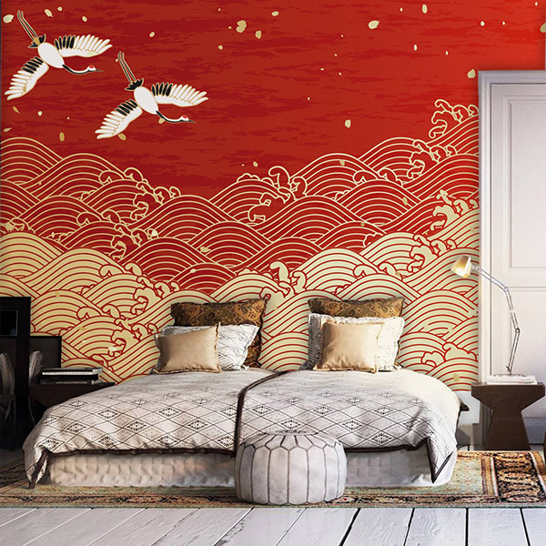 Colors combined with gold and gold: red