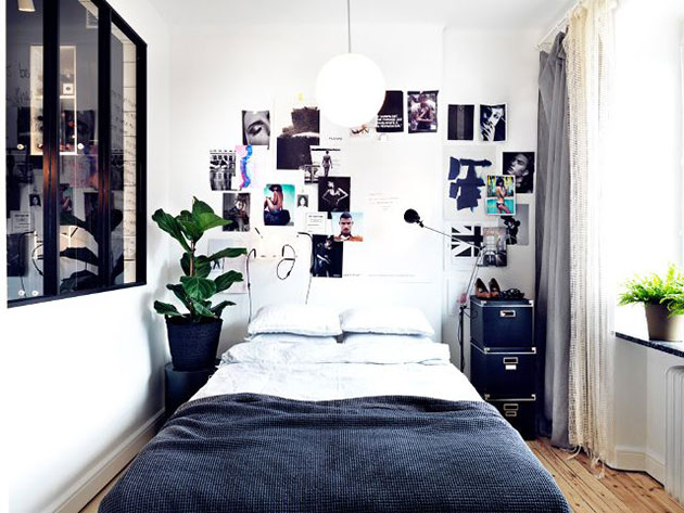 Well decorated small room or bedroom