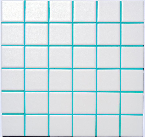 Turquoise grout for painting tile joints