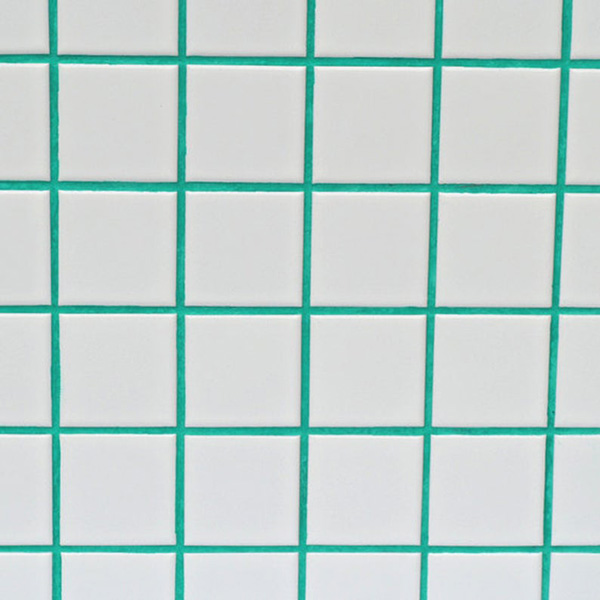 Green grout for painting tile joints