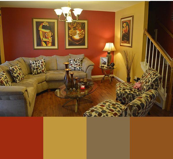Color combination to paint a modern living room