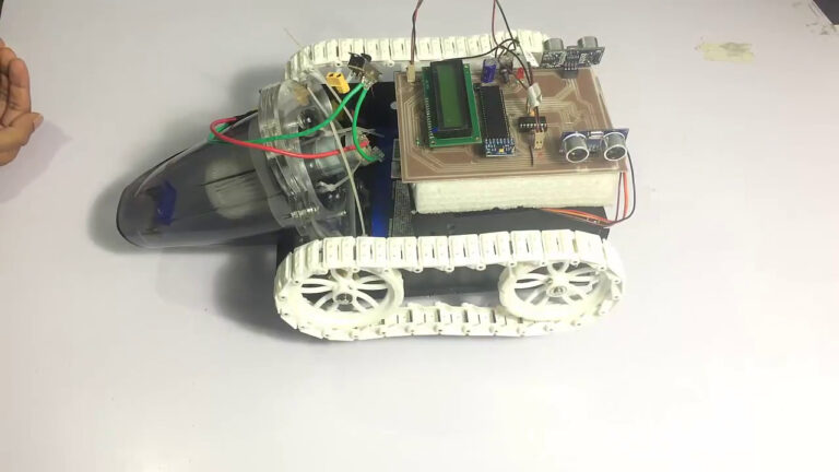 Automatic Vacuum Cleaner Robot Project