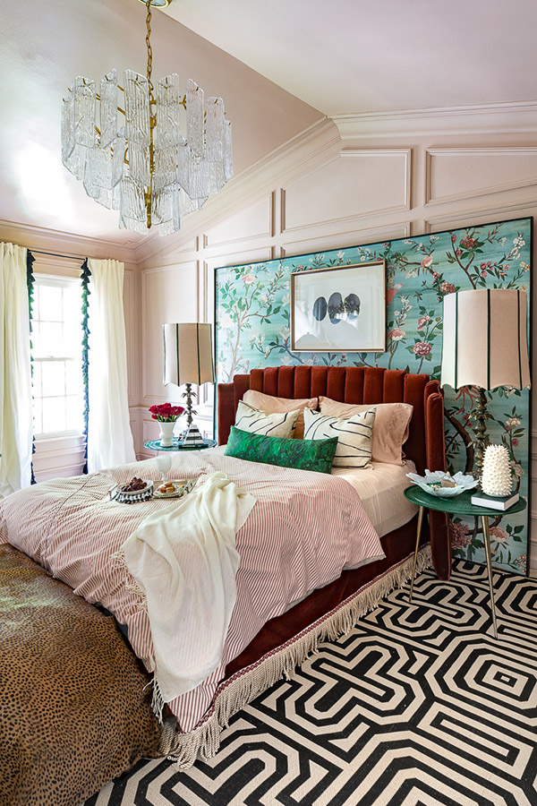 Cheerful and beautiful designer double room