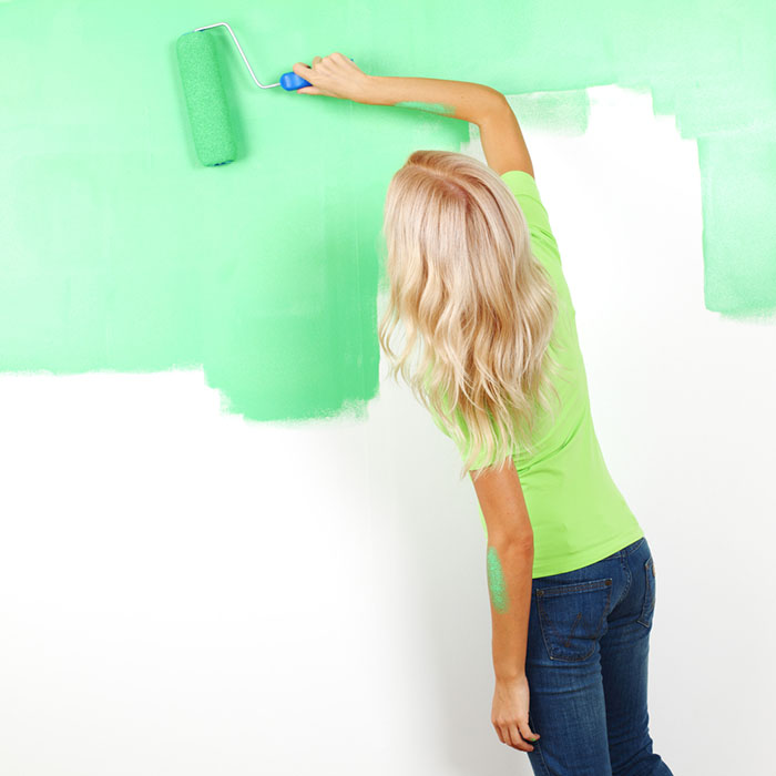 Painting an already painted wall with plastic paint
