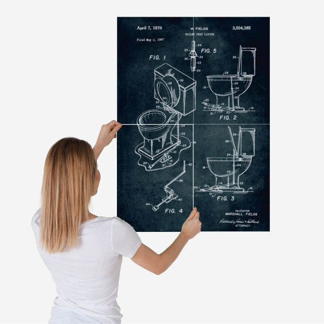 Patent for poster or decorative sheet