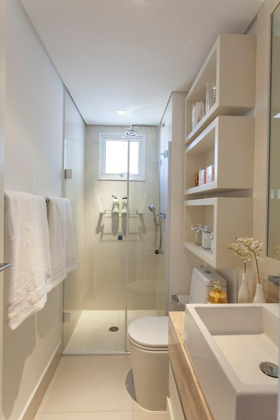 Small bathroom with large format tiles and tiles