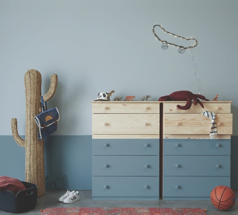 15 color combinations for coloring a child's room: Shades of blue