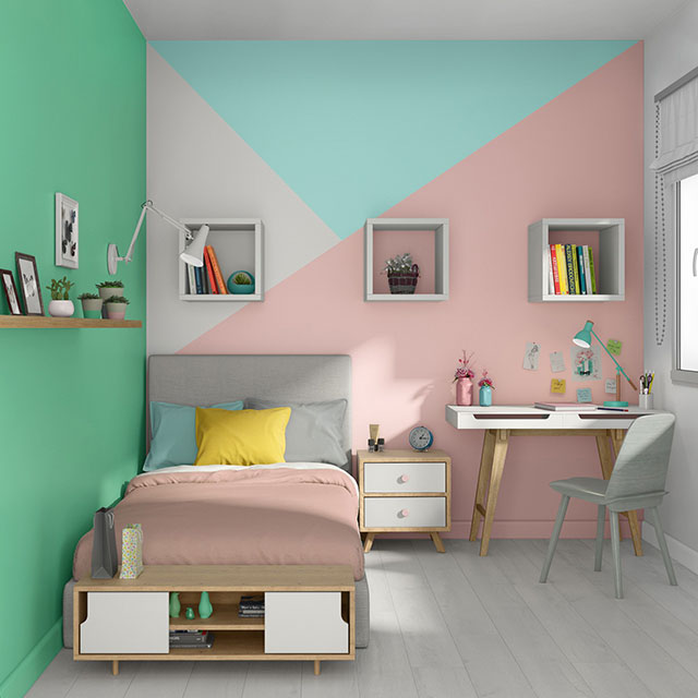 A combination of colors for painting a child's bedroom