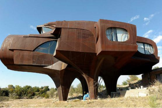 A steel house in Texas
