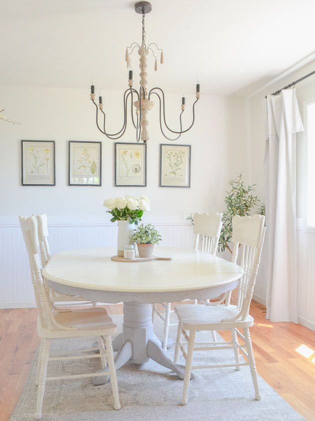Dining room colors: Dining room painted pastel yellow