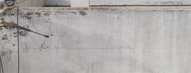 Painting the finished facade in cement, single layer or mortar