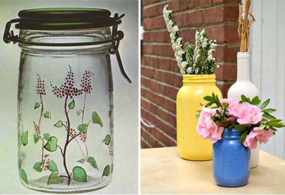 Types of paints for decorating and painting mason jars