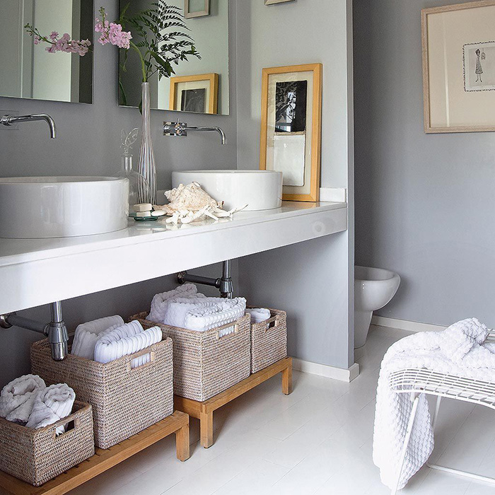 17 modern bathrooms in gray tones, nothing cold
