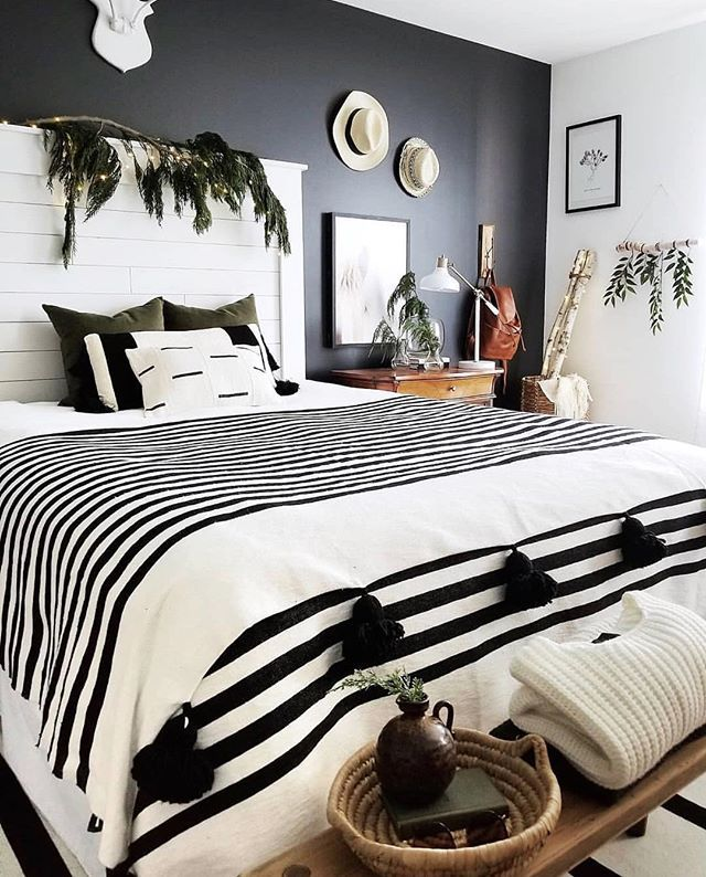 15 photos and ideas for decorating a modern black and white bedroom