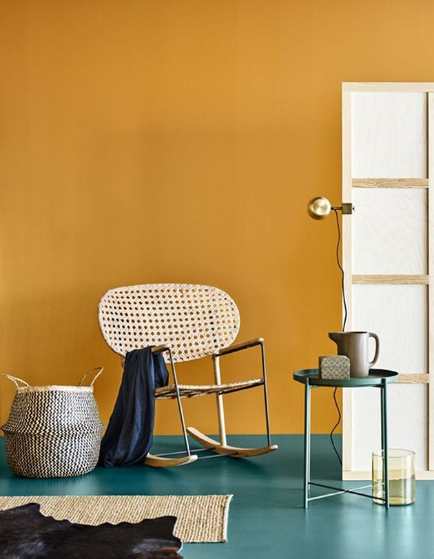 15 colors that combine with the color of mustard in the walls and decoration