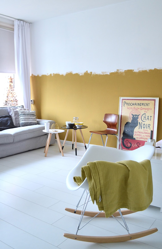 Colors that combine with ocher walls and decoration