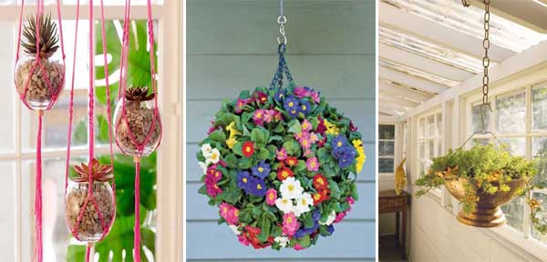 15 ideas for making hanging pots.